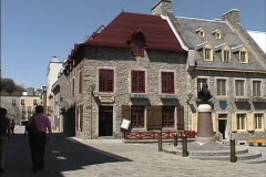 Quebec Place Royal 3 Stock Footage