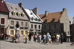 Quebec Tourists Place Royal 1 Stock Footage