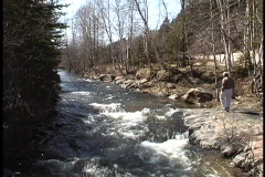 Quebec Tributary of St. Lawrence 3  Stock Footage
