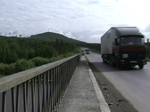 Russia Highway Ural Mts Stock Footage