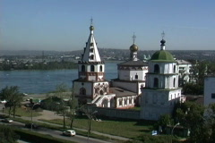 Russia Irkutsk church Stock Footage