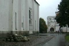 Russia Novgorod churches Stock Footage