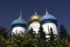 Church at  Sergiev Posad Monastery Russia Stock Footage