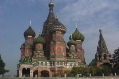 Russia St Basil's Moscow Stock Footage