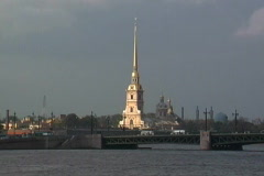 Russia St Petersburg church Stock Footage