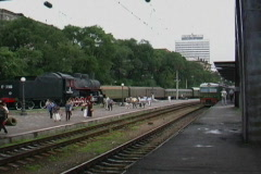 Train on TransSiberian Railroad, Russia Stock Footage