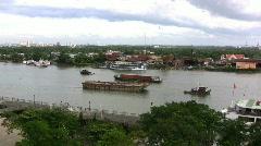 Saigon River at Ho Chi Minh City Stock Footage