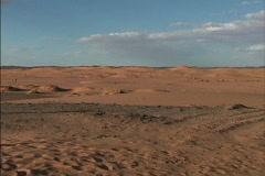Sandy desert Morocco Stock Footage