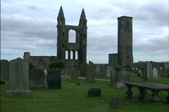 Scotland Ruins at St. Andrews Stock Footage
