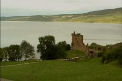 Scotland Urguhart Castle tower Stock Footage