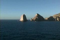 Sea stack & sea arch Baja Stock Footage