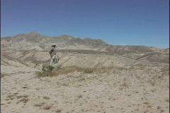 Solitude Bleak desert hills CA - stock footage