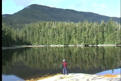 Solitude  Reflections in an Alaska lake Stock Footage