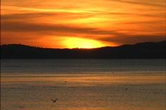 Sunset Juan de Fuca Strait Stock Footage
