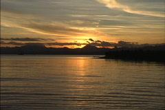 Sunset near Suva Fiji Stock Footage