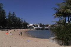 Sydney Harbor beach Manly Stock Footage