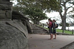 Sydney Mrs. Macquarie's Chair Stock Footage