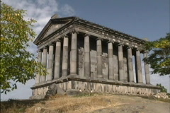 Hellenistic temple in Armenia Stock Footage