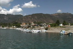 Town on Lake Atitlan Stock Footage