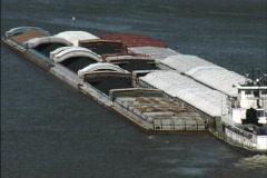 Barges Mississippi River Stock Footage