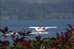 Transportation: sea plane takes off Stock Footage