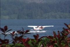 Transportation: sea plane takes off Stock Footage