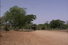 Horse and buggy Myanmar Stock Footage
