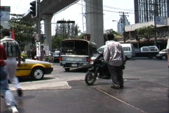 Intersection in Bangkok Stock Footage