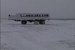 Tundra buggy Canada Stock Footage