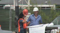 Construction supervisors on site - Series 1 - 5 Stock Footage