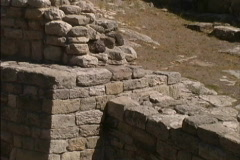 Stone ramp at Troy Stock Footage