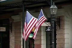 Two Flags on lamp post Stock Footage
