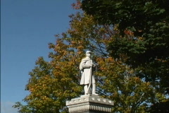 Union soldier statue Stock Footage