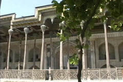 Uzbekistan Bolo-hauz Mosque Bukhara Stock Footage