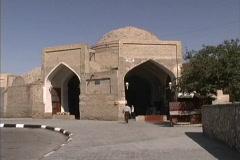 Uzbekistan Covered bazaar Bukhara Stock Footage