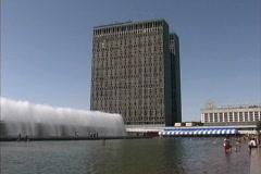 Uzbekistan Fountains Tashkent Stock Footage