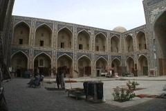 Uzbekistan Madrassa interior Bukhara Stock Footage