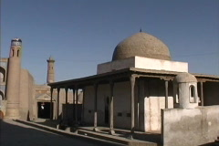 Uzbekistan Mosque & madrassa Khiva Stock Footage