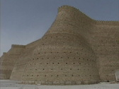 Stock Video Footage of Uzbekistan Bukhara walls of the Ark