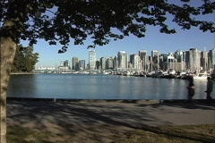 Vancouver skyline BC Stock Footage