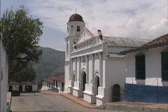 Andean village church Venezuela Stock Footage