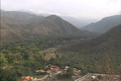 Venezuela Valley in Andean foothills Stock Footage
