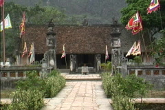Vietnam Approaching temple Hoa Lu Stock Footage