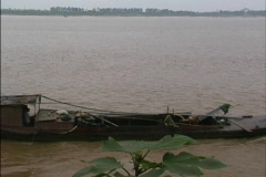 Boat on Red River Vietnam Stock Footage