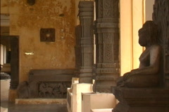 Vietnam Cham sculpture Da Nang Stock Footage