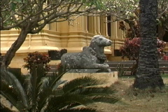 Vietnam Stone cow Da Nang museum Stock Footage