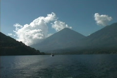 Volcano & Lake Atitlan Stock Footage