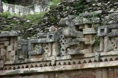Chac mask Maya ruin of Labna Stock Footage