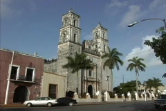 Church in Valladolid Stock Footage