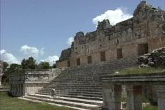 Nunnery Uxmal Yucatan Stock Footage
